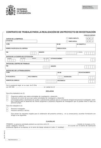 plantilla contrato proyecto investigacion